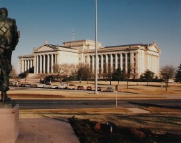 Vintage shot of Oklahoma's state capitol. It now has a dome.