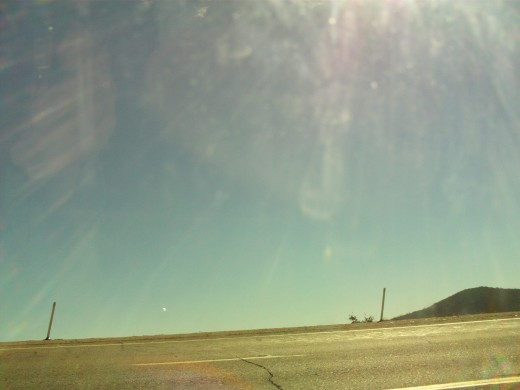 The heat of the sun basking upon Highway 18.