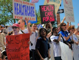 Health Care Reform Rally.