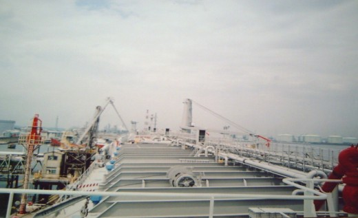 Ship's superweather deck (Photo by the sailor)