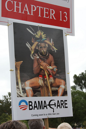 Obama the African Warrior? Nope, no racism here either