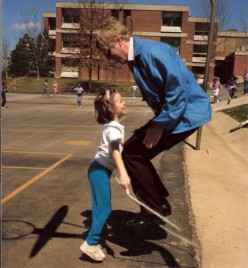 Missy and myself jumping rope.  She was in first grade when this was taken.