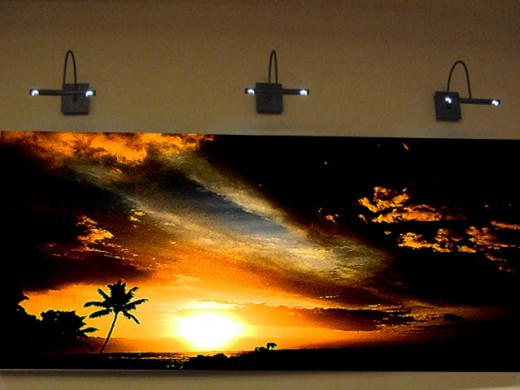 Sunset panoramic artwork on Giclee