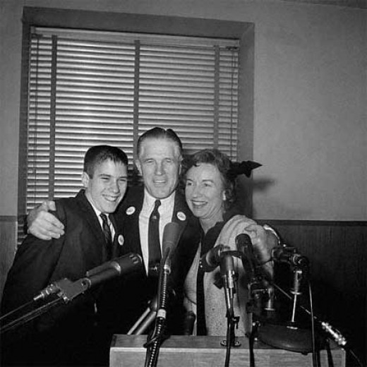 George Romney, pictured here with 14-year-old Mitt, ran for President in 1968, even though he was born in Mexico.