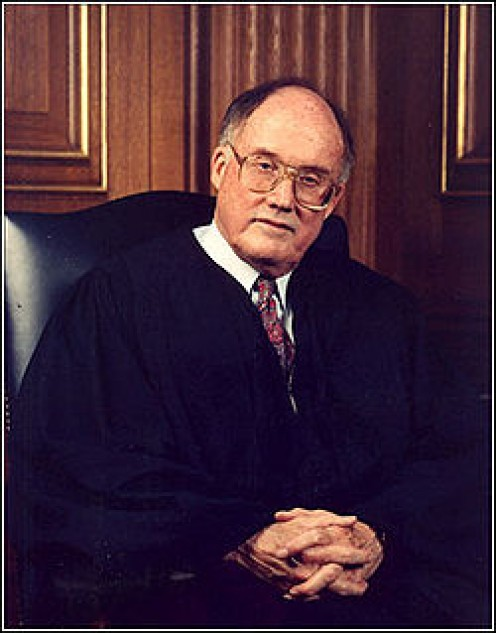 U.S. Supreme Court Chief Justice William Rehnquist, presided over President Bill Clinton's Senate trial.
