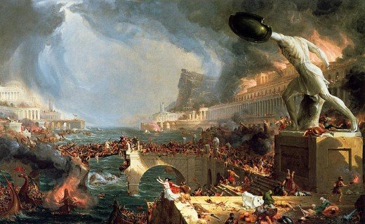 """Destruction"" by Thomas Cole"