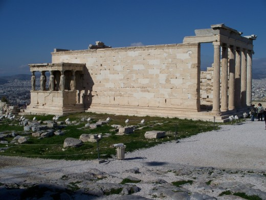 The Erecthion, one of the finest examples of Ionic temple architecture in all of Greece