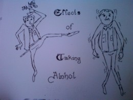 Effects of taking alcohol .