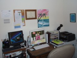 Office desk in the Vision/Past part of the house.