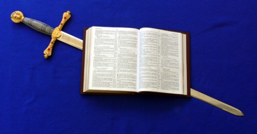 The Bible , sharper than any two edged sword.