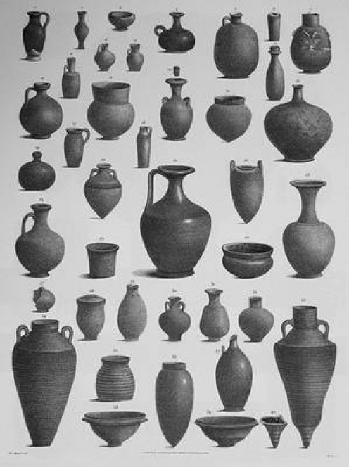 Egyptian clay pots