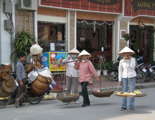 Streets of Hanoi´s Old Quarter, Vietnam