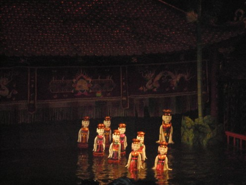 Water Puppets walking on water
