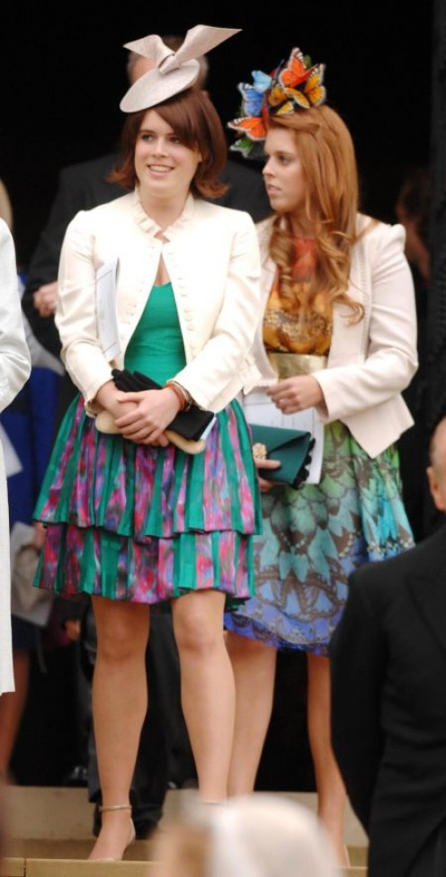 Hmmm....Beatrice and Eugenie at someone else's wedding