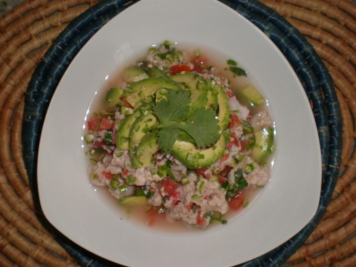 "A truly traditional and authentic Mexican recipe: ""Ceviche"", a light and fresh cold dish made from fish cooked with lime juice and turned into a cocktail or salad."