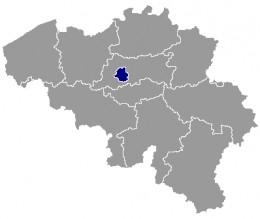 Map location of Brussels, Belgium