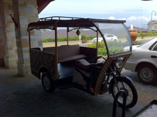 this is our ride going from the main lobby to our garden suite. i just love this!