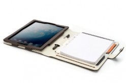 BooqPad - iPad 2 and Paper Notepad in One Folio Case - Leather, Leatherette or Recycled