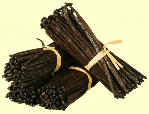 Good vanilla pods are deep brown or black long and narrow, somewhat wrinkled, moist, waxy supple and immediately fragrant.