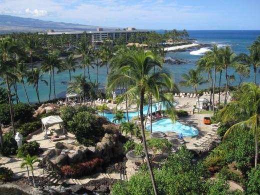 The Hilton Waikoloa Village.