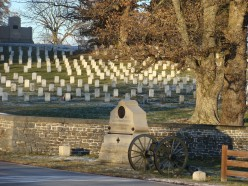 Civil War graves in the Gettysburg National Cemetery.