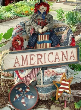 Display a patriotic display for the summer holidays