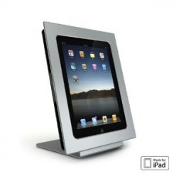 miFrame iPad Dock, Stand and 8x10 Digital Photo Frame - Modern Aluminum iPad 1 Accessory