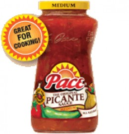 Picante sauce adds to the flavor of Dallas Beans.