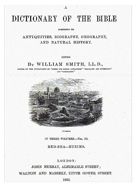 Smith's Bible Dictionary, 1863