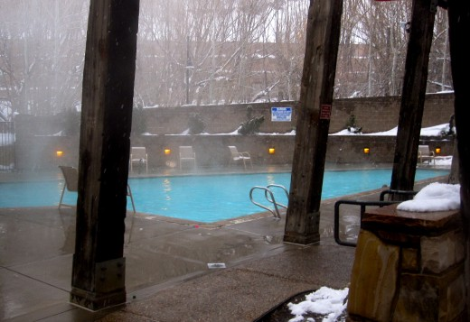 The pool at The Marriott Summit Watch.