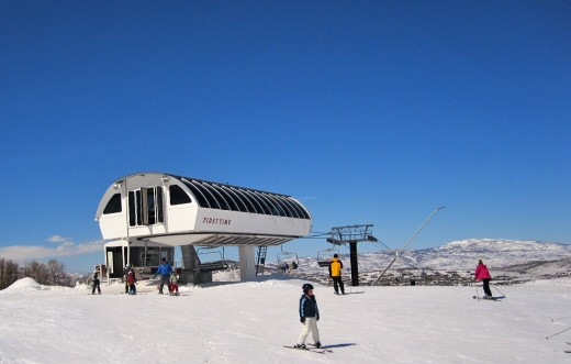 The First Time lift at park City ski resort.