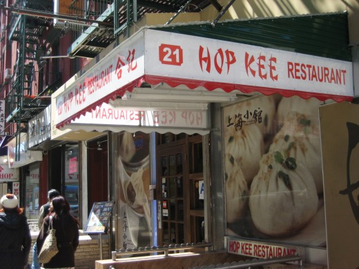 Hop Kee Restaurant on 21 Mott Street