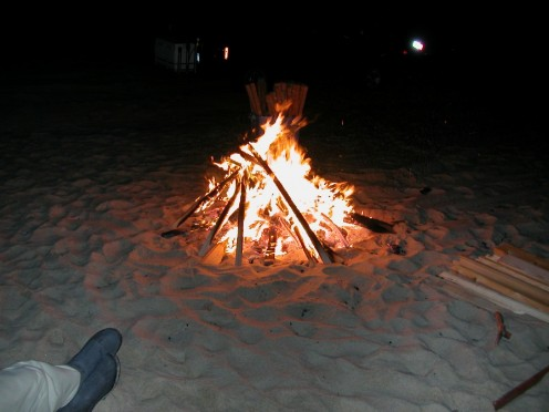 Campfires are a nice way to participate in a social activity while maintaining your distance.