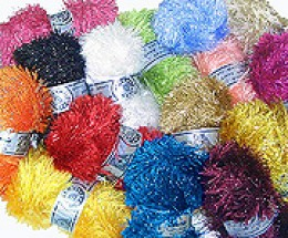 Eyelash yarn is used in many easy knitting patterns and also to add trim or accents to more advanced knitting projects.