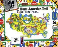 BIKECENTENNIAL 1976 Bicycling Across the USA the Land I Love