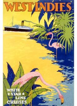 free cross stitch pattern West Indies travel poster