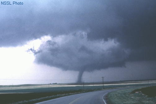 Photo courtesy of NSSL  F2 rated tornado