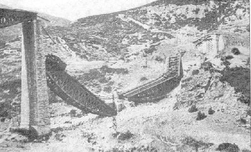 The destroyed Gorgopotamos Bridge