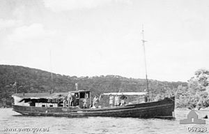 The MV Krait, used to infiltrate Singapore.