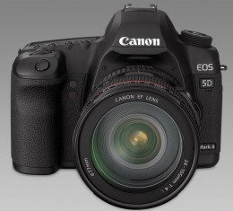 The Canon 5D Mark II is a Full Frame DSLR with Full HD video capture