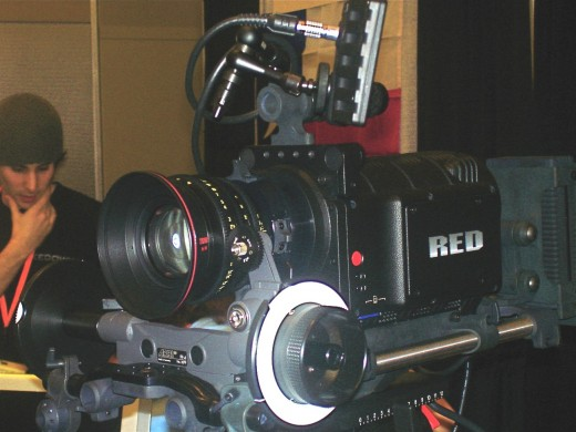The Red One camcorder uses a CMOS sensor