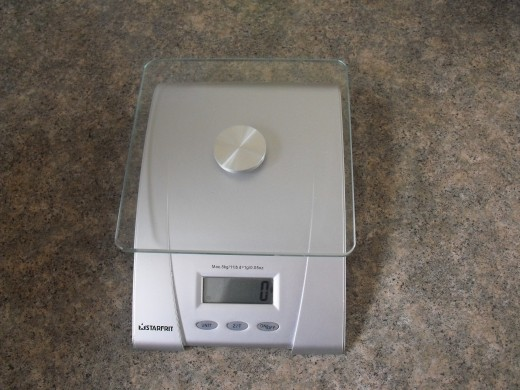 Digital kitchen scale.