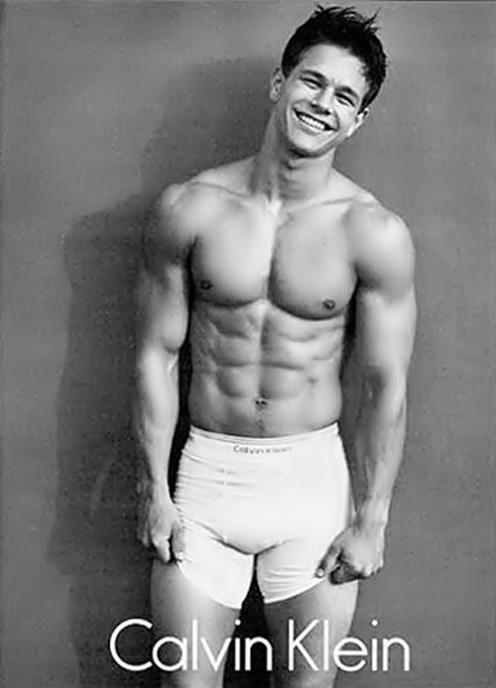 Mark Wahlberg (Marky Mark), the original Calvin Klein Hottie, source: Calvin Klein