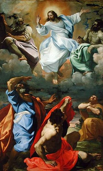 Public domain ~copyright expired. See: http://en.wikipedia.org/wiki/File:Transfiguration_by_Lodovico_Carracci.jpg
