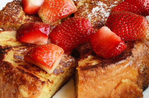 French toast with strawberry