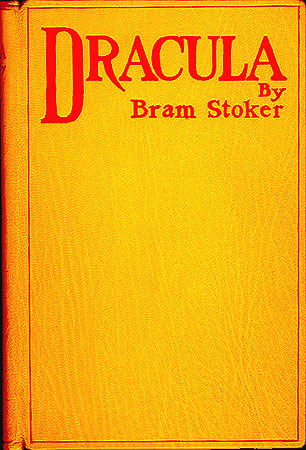 The cover of the first edition of the book Dracula by Bram Stoker