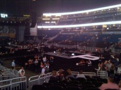 Photo from our seats....we were close, but not close enough