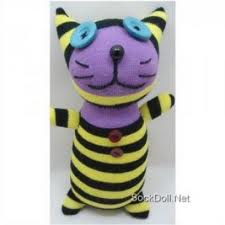 CUTE SOCK TOY STUFFED WITH CATNIP
