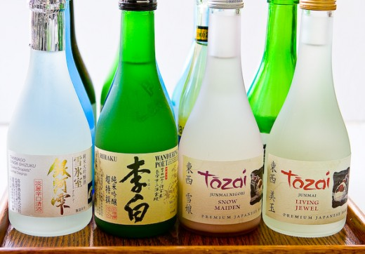 Bottles with Sake
