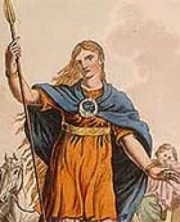 Boudicca was a fierce woman in history - when Roman soldiers killed her husband and raped her daugher she burnt a Roman settlement to the ground in revenge.
